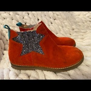 Mini Boden ankle boots 32/13 GUC star booties